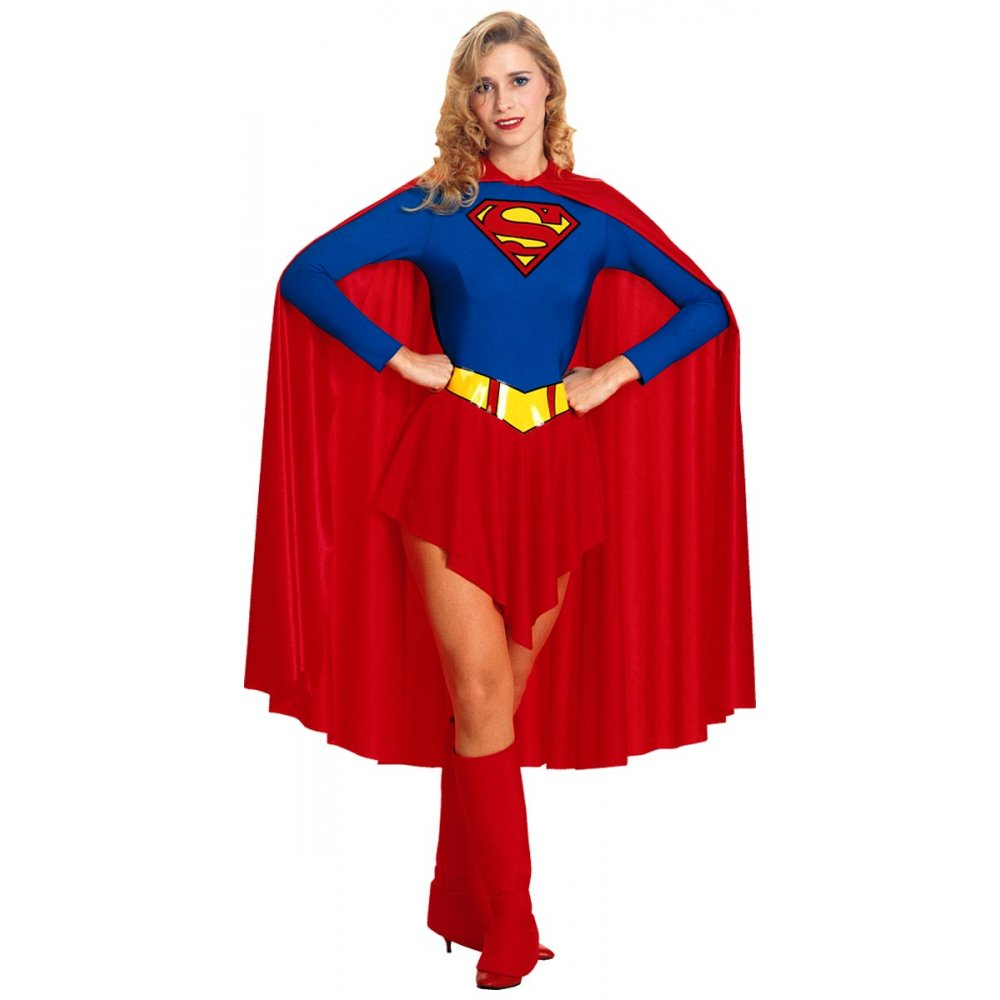 Ladies Supergirl Superhero Superheroes Plus Size Tutu Fancy Dress