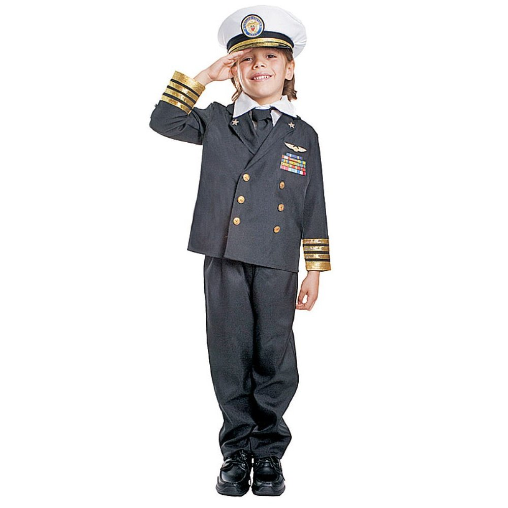 Details about Navy Admiral Kids Navy Sailor Uniform Military Halloween ...