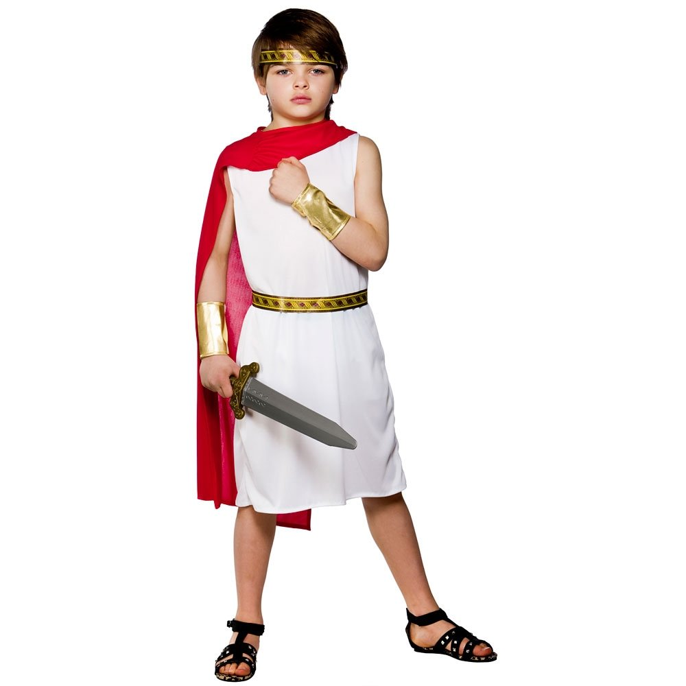 Roman Boy Gladiator Emperor Caesar Greek Ancient Historical Kids Costume Ebay