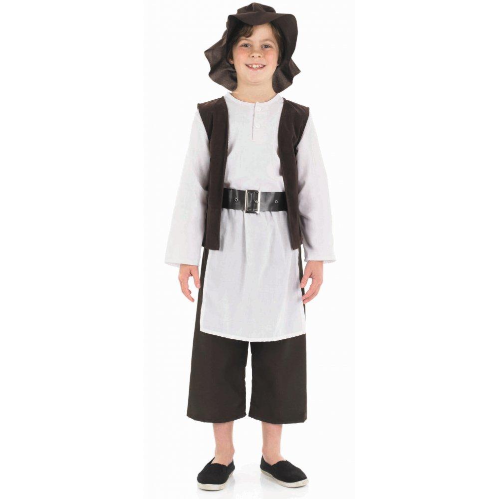 White apron fancy dress - Boys Book Week Character Victorian Tudor Viking Plumber