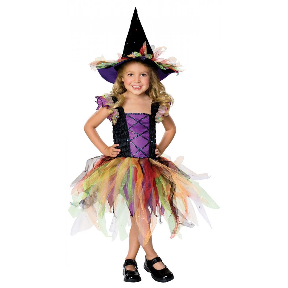 DELUXE GIRLS WICKED WITCH WITH HAT OZ HALLOWEEN FAIRYTALE FANCY ...