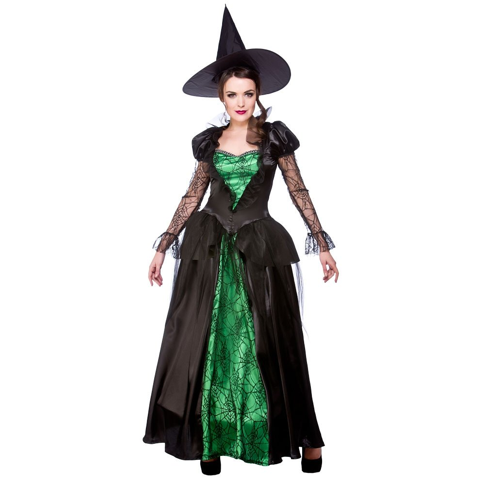 Ladies-Halloween-Gothic-Sexy-Scary-Sorceress-Enchant-Witch-  sc 1 st  eBay & Ladies Halloween Gothic Sexy Scary Sorceress Enchant Witch Fancy ...