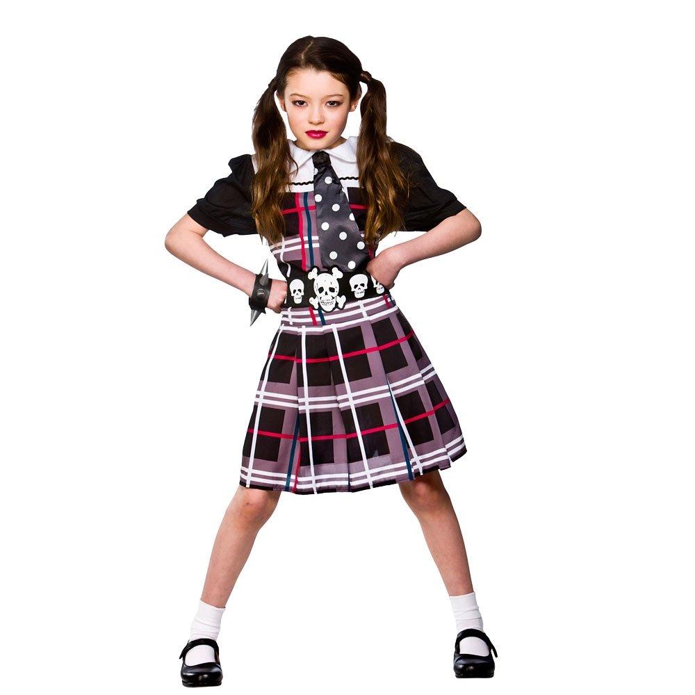 freaky schoolgirl kids girls halloween scary punk costume