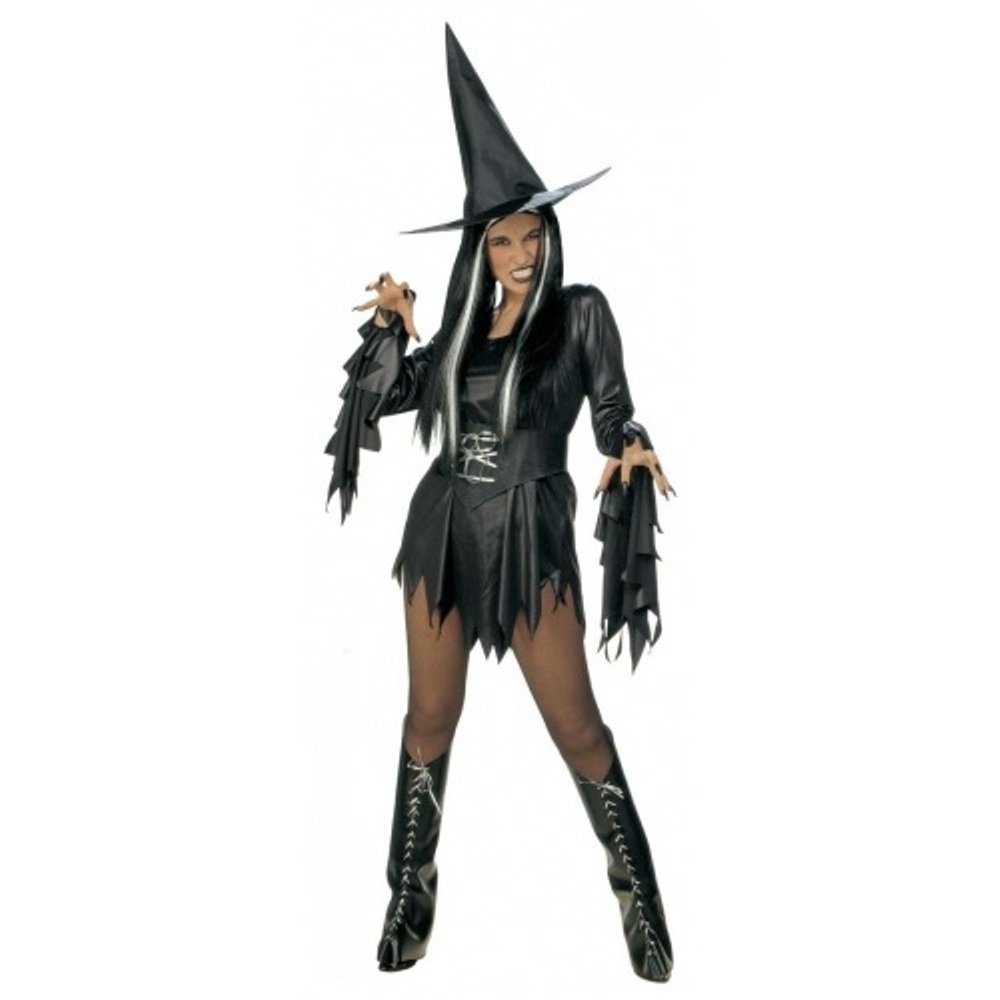 ladies halloween gothic sexy scary sorceress enchant witch fancy dress costume ebay. Black Bedroom Furniture Sets. Home Design Ideas