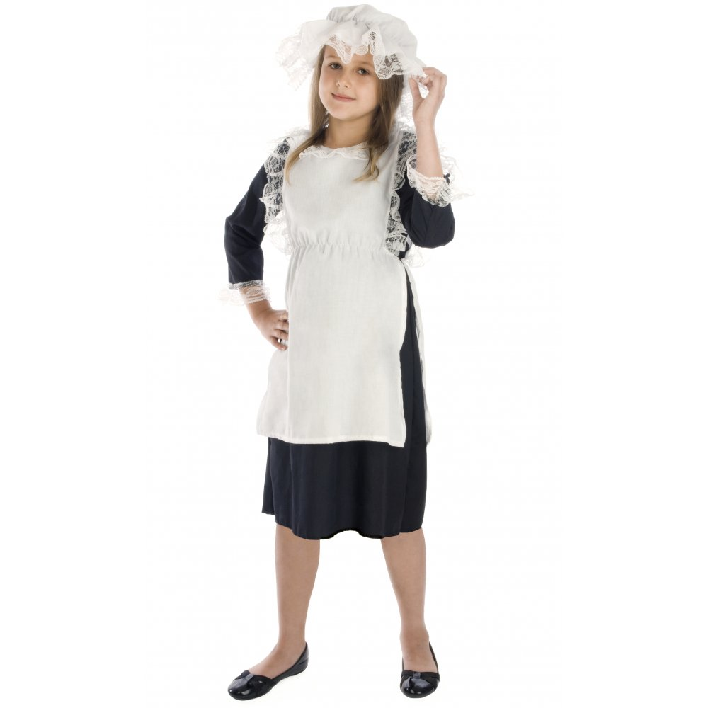 White lace apron ebay - Girls Book Week Character Tudor Victorian Orphan Ww2
