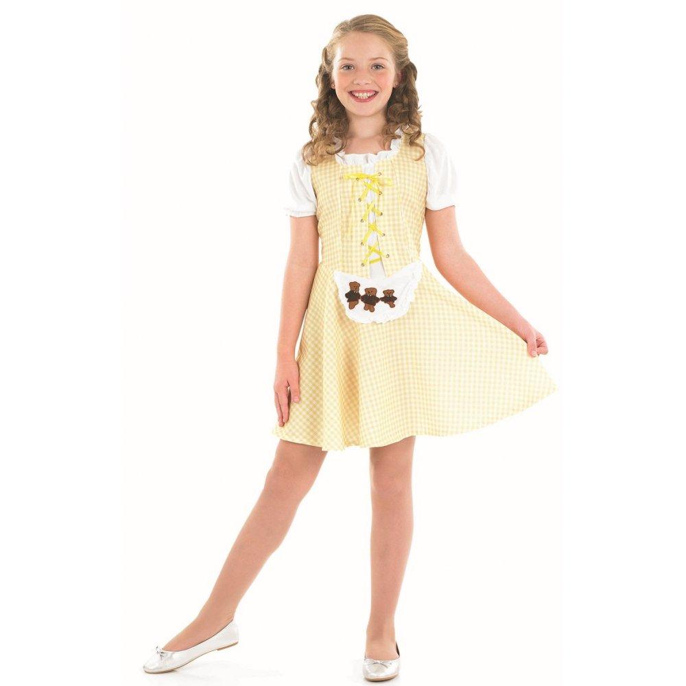 Goldilocks book day storybook three bears kids fancy dress costume 4