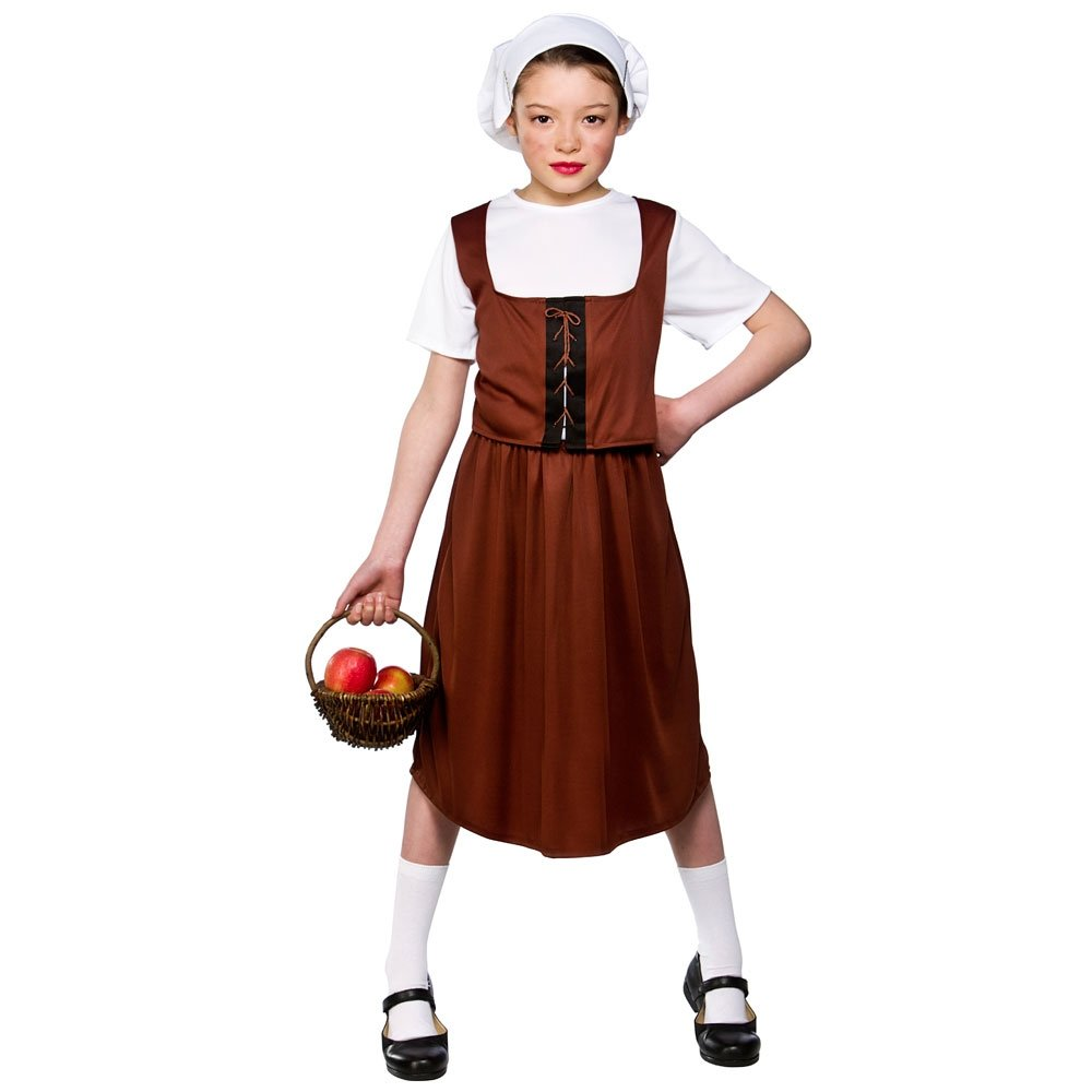 Tudor-Peasant-Curriculum-History-School-Dress-Up-Day-Girls-Fancy-Dress-Costume