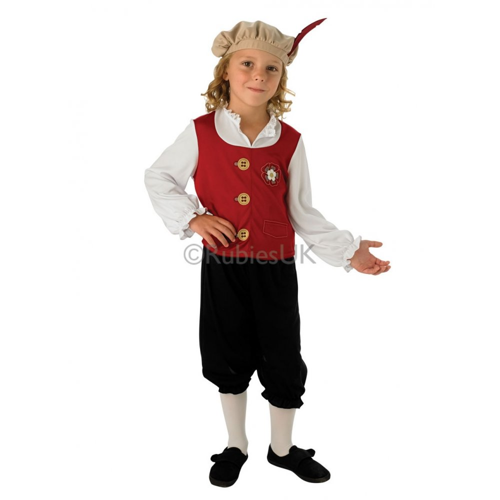 Tudor-Boy-School-History-Historical-Medieval-Kids-Fancy-Dress-Costume-3-8-years