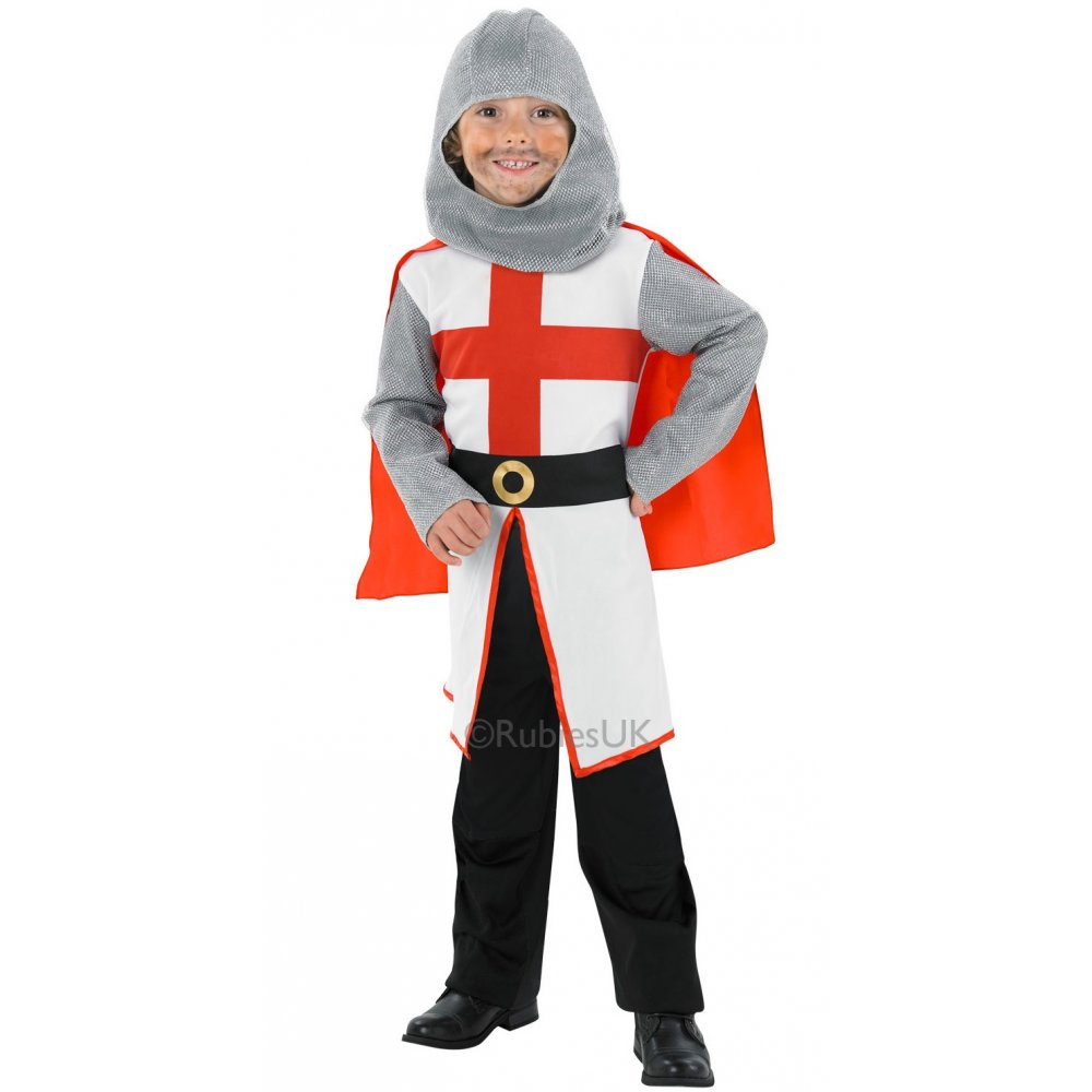 St george crusader knight tudor medieval history boys fancy dress
