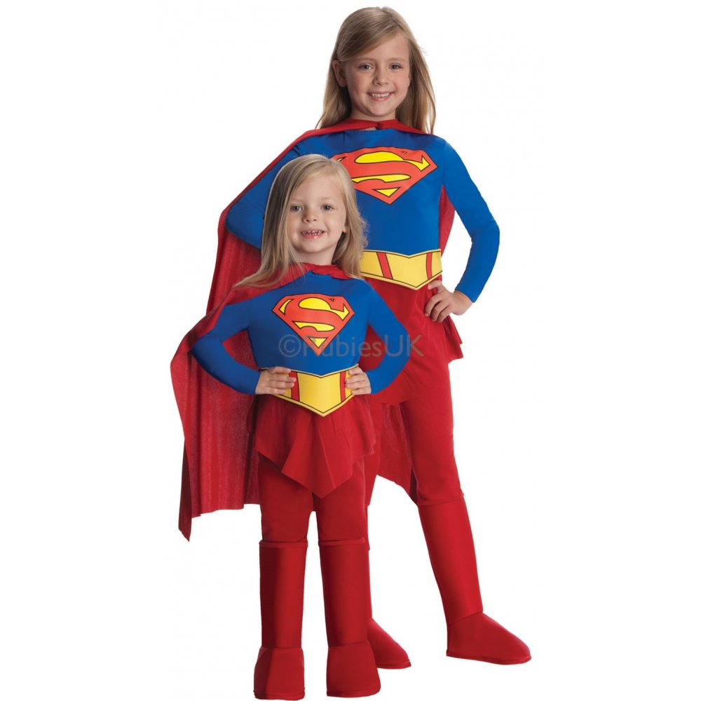 SUPERGIRL-Jumpsuit-style-Kids-Superhero-Girls-Film-Costume-Sizes-2-12-Years