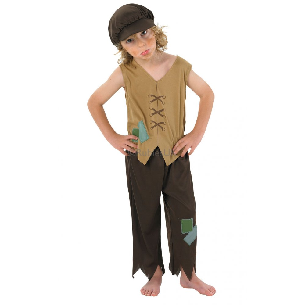 Kids-Victorian-Urchin-Schoolboy-Edwardian-Oliver-Twist-Kids-Costume-3-8-years