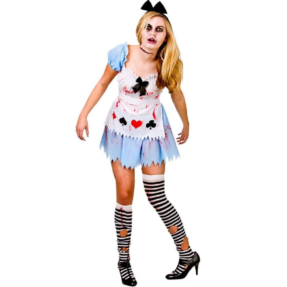 new adult zombie costume bride nurse halloween horror ladies womens