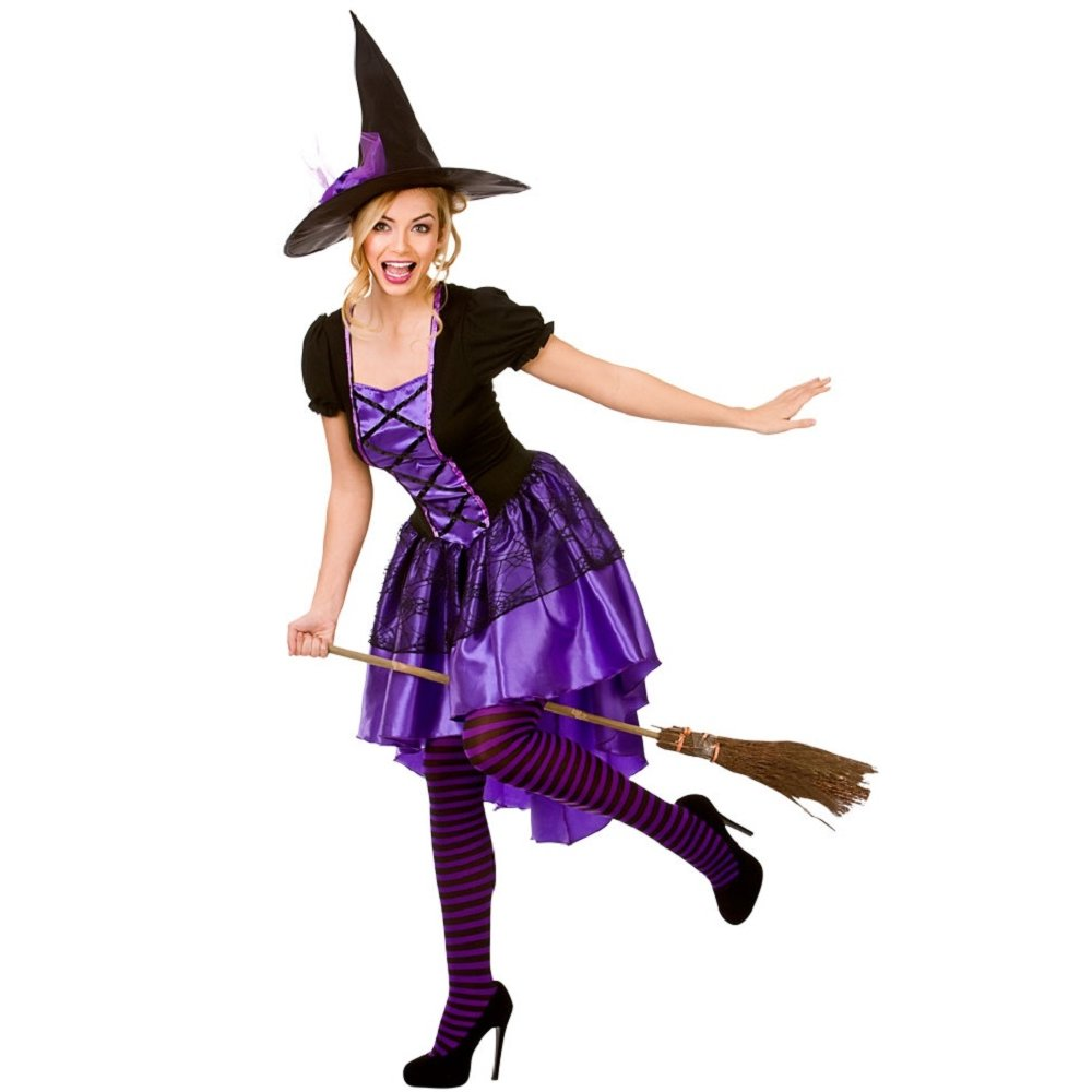 LADIES WITCH WITCHES HALLOWEEN BLACK WIDOW HORROR ADULT FANCY ...