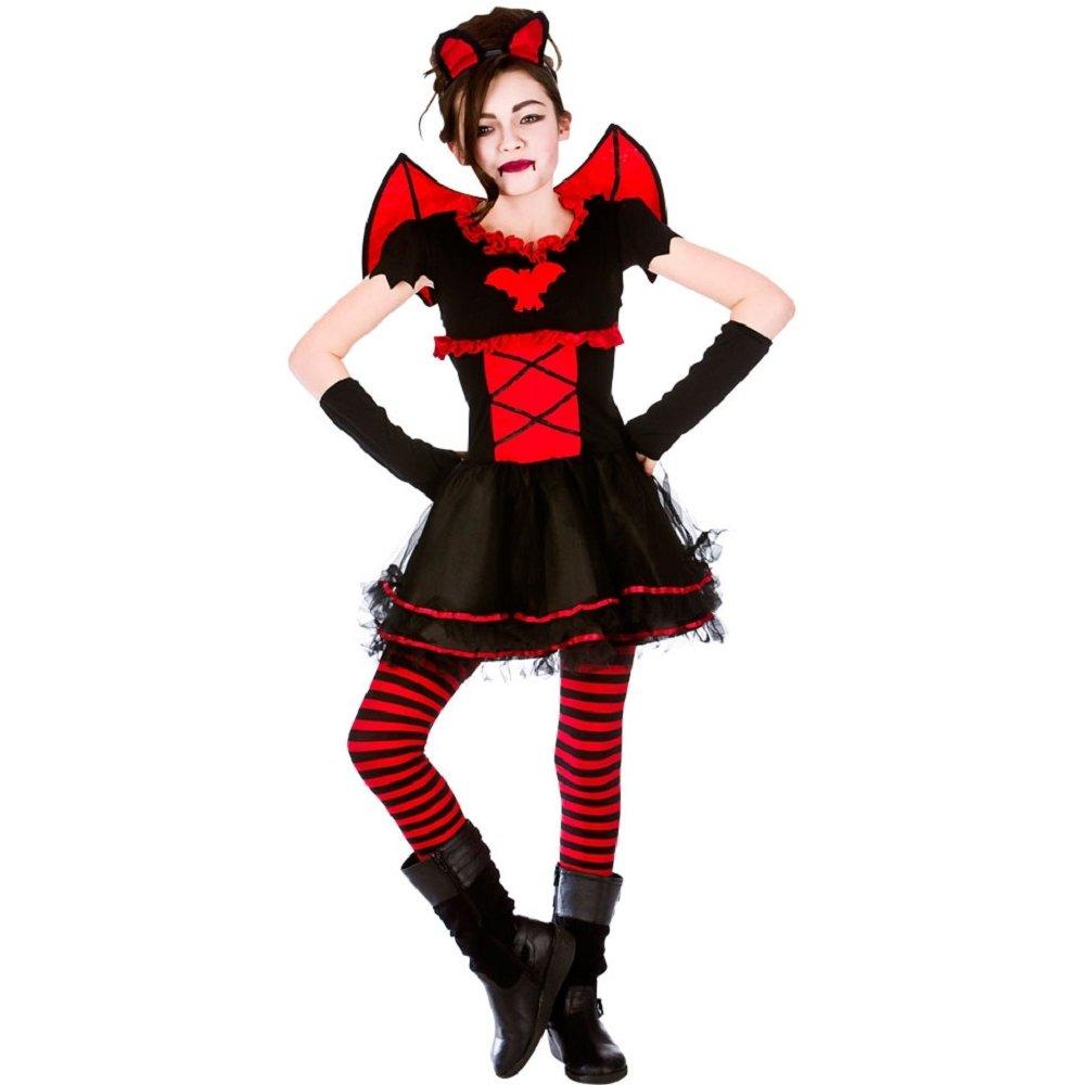 deluxe vampire vampiress queen fairy gothic halloween girls fancy dress costume ebay. Black Bedroom Furniture Sets. Home Design Ideas
