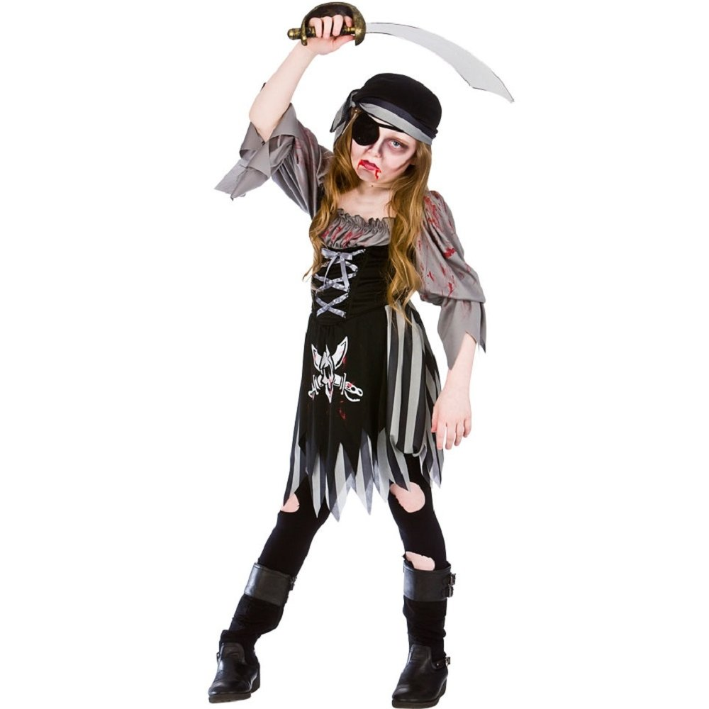 Awesome Womens Zombie Convict Costume Side At Halloween Fancy Dress And Party