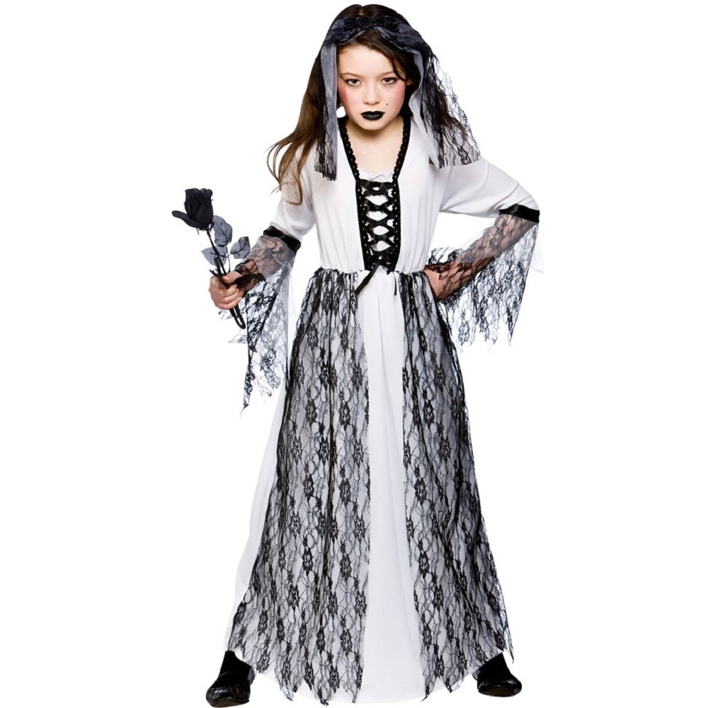 GIRLS-ZOMBIE-GHOST-CORPSE-SKELETON-BRIDE-KIDS-HALLOWEEN-  sc 1 st  eBay & GIRLS ZOMBIE GHOST CORPSE SKELETON BRIDE KIDS HALLOWEEN FANCY DRESS ...