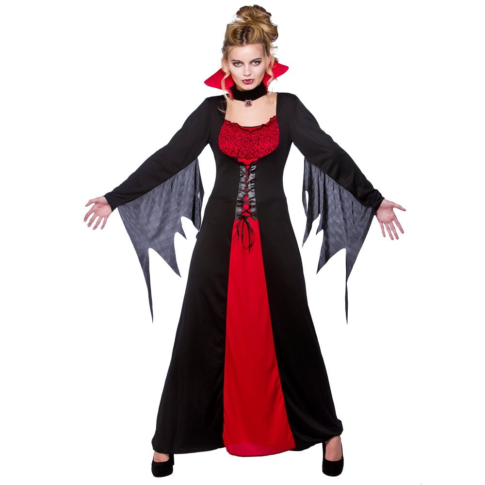 ladies halloween vampire queen sexy temptress gothic cape - Halloween Dracula Costumes