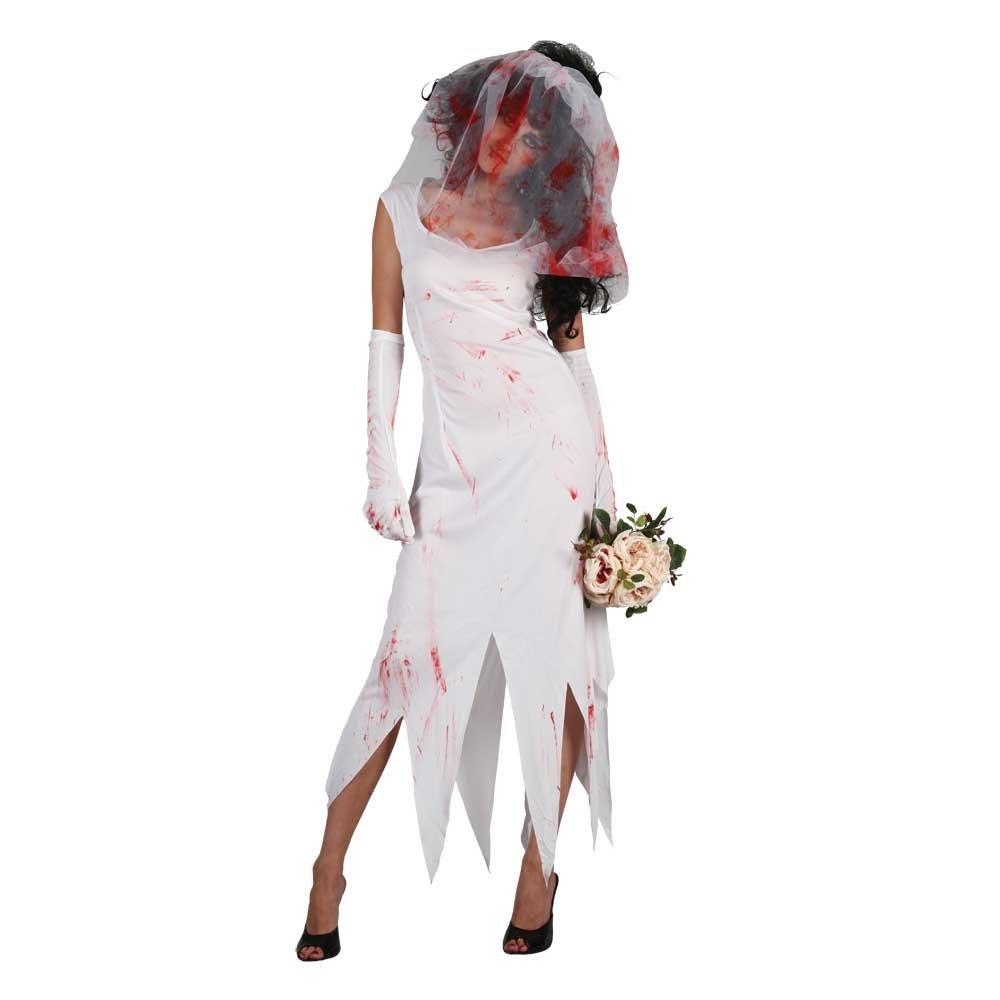 new adult zombie costume bride nurse halloween horror ladies womens fancy dress ebay. Black Bedroom Furniture Sets. Home Design Ideas