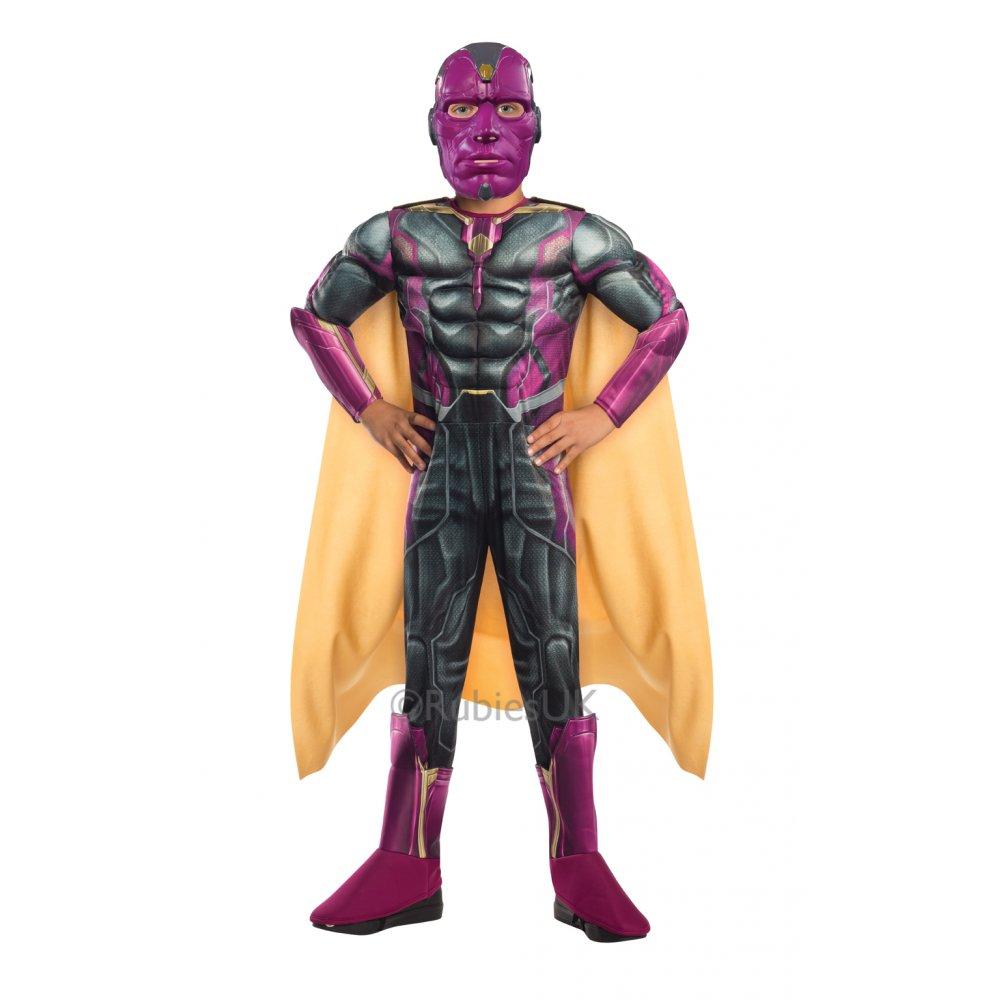 KID/'S DELUXE AVENGERS MUSCLE CHILD SUPERHERO VISION COSTUME