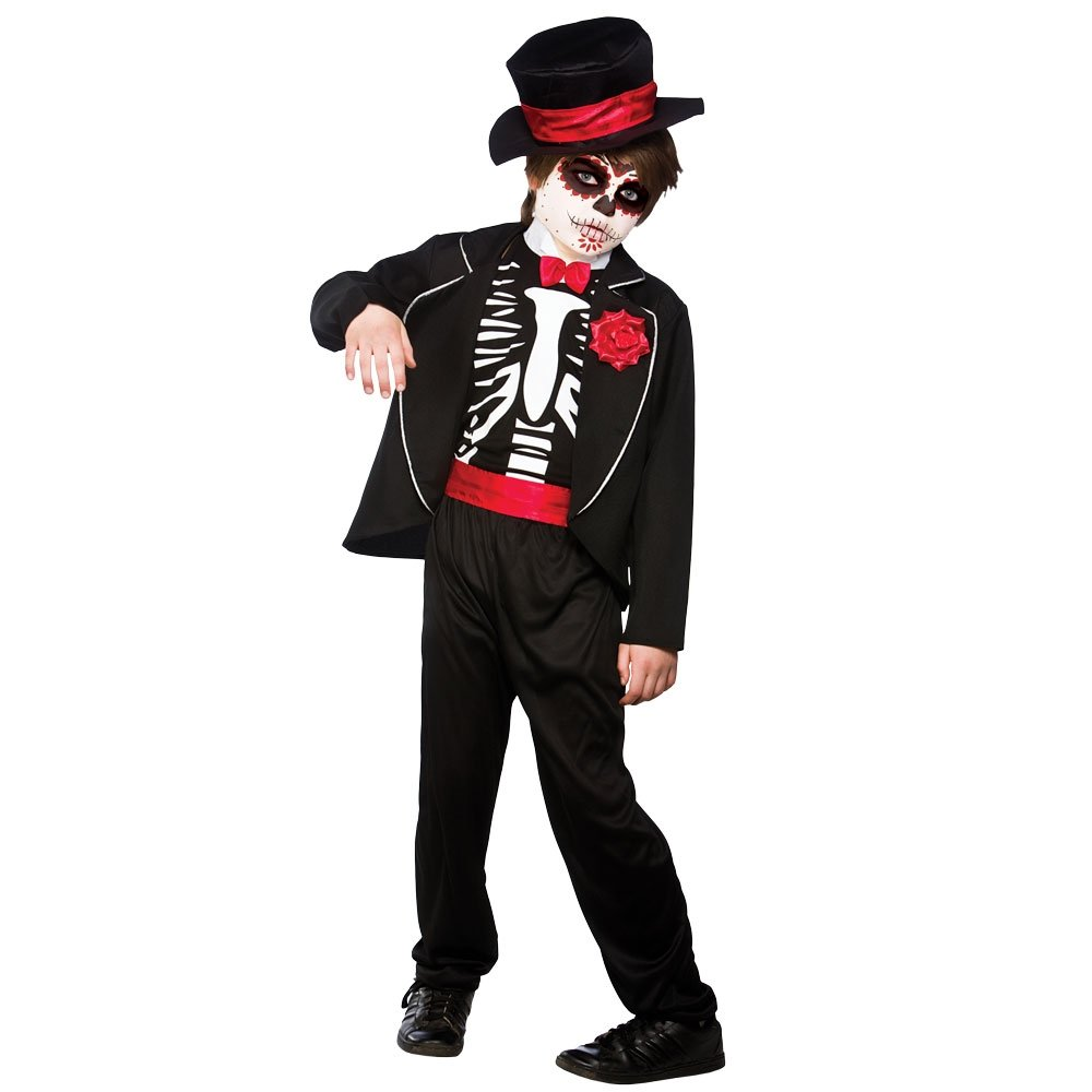 New Kids Day of the Dead Mexican Muertos Halloween Skeleton Fancy ...